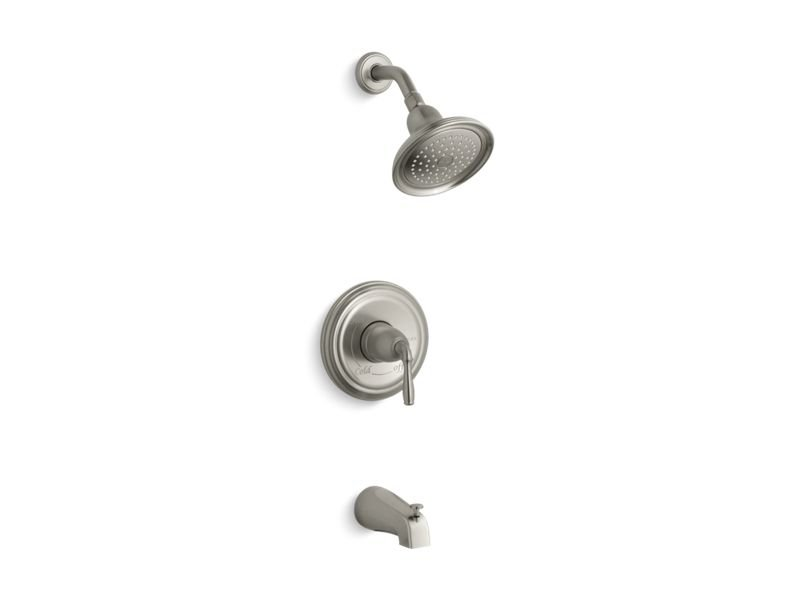 Kohler K-TS395-4-BN Devonshire Rite-temp Bath and Shower Trim Set with NPT Spout, Valve Not Included in Vibrant Brushed Nickel