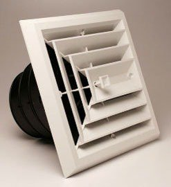 Competitive Airtec 81913 3-Way High Impact Polymer Ceiling Diffuser W/Collar