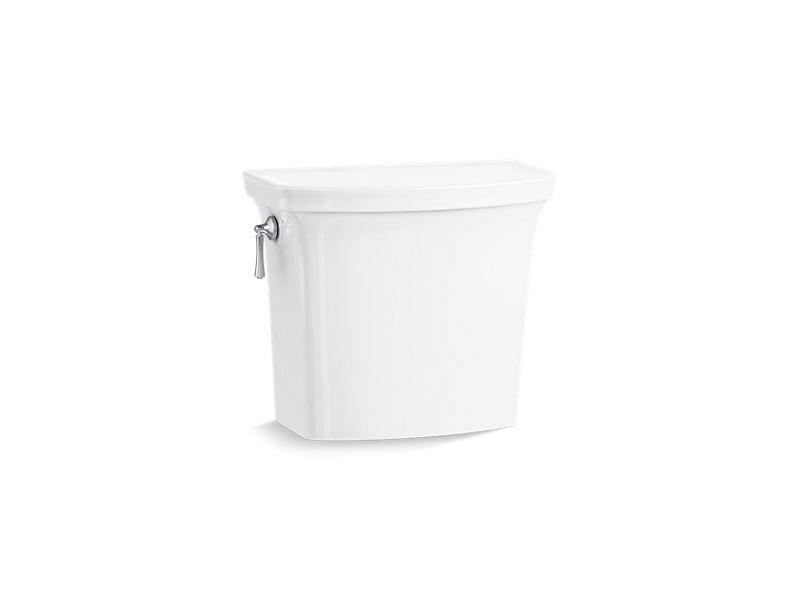Kohler K-4143-0 Corbelle 1.28 GPF Toilet Tank with Aquapiston Flush Technology and Left-Hand Trip Lever in White