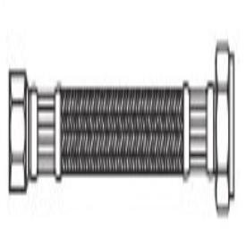 "Kissler 88-2001 3/8"" X 1/2"", Compressionxnpt, 12"" L, High Grade 304 Stainless Steel, Faucet Connector W/Reinforced Pvc Inner Liner"