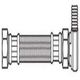 "Kissler 88-2060 3/8"" X 3/8"", Compressionxcompression, 60"" L, 250Psi, Pvc Tubing, Dishwasher Connector"