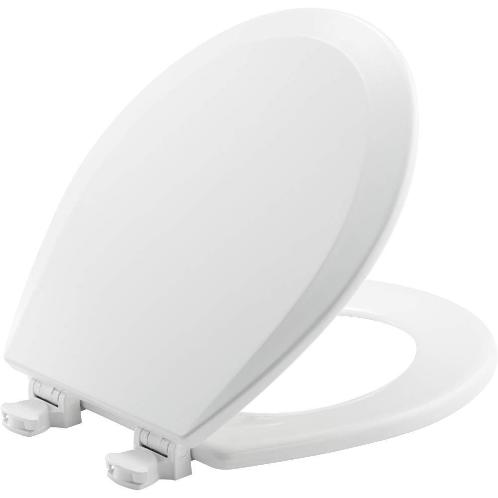 "Church Model 540EC-000 14-3/8"" X 16-7/8"" White Wood Toilet Seat"