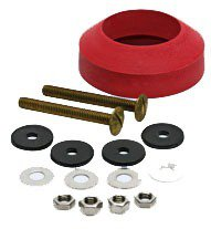 Fluidmaster 6102 Solid Brass/Rubber Toilet Bowl Bolt And Gasket