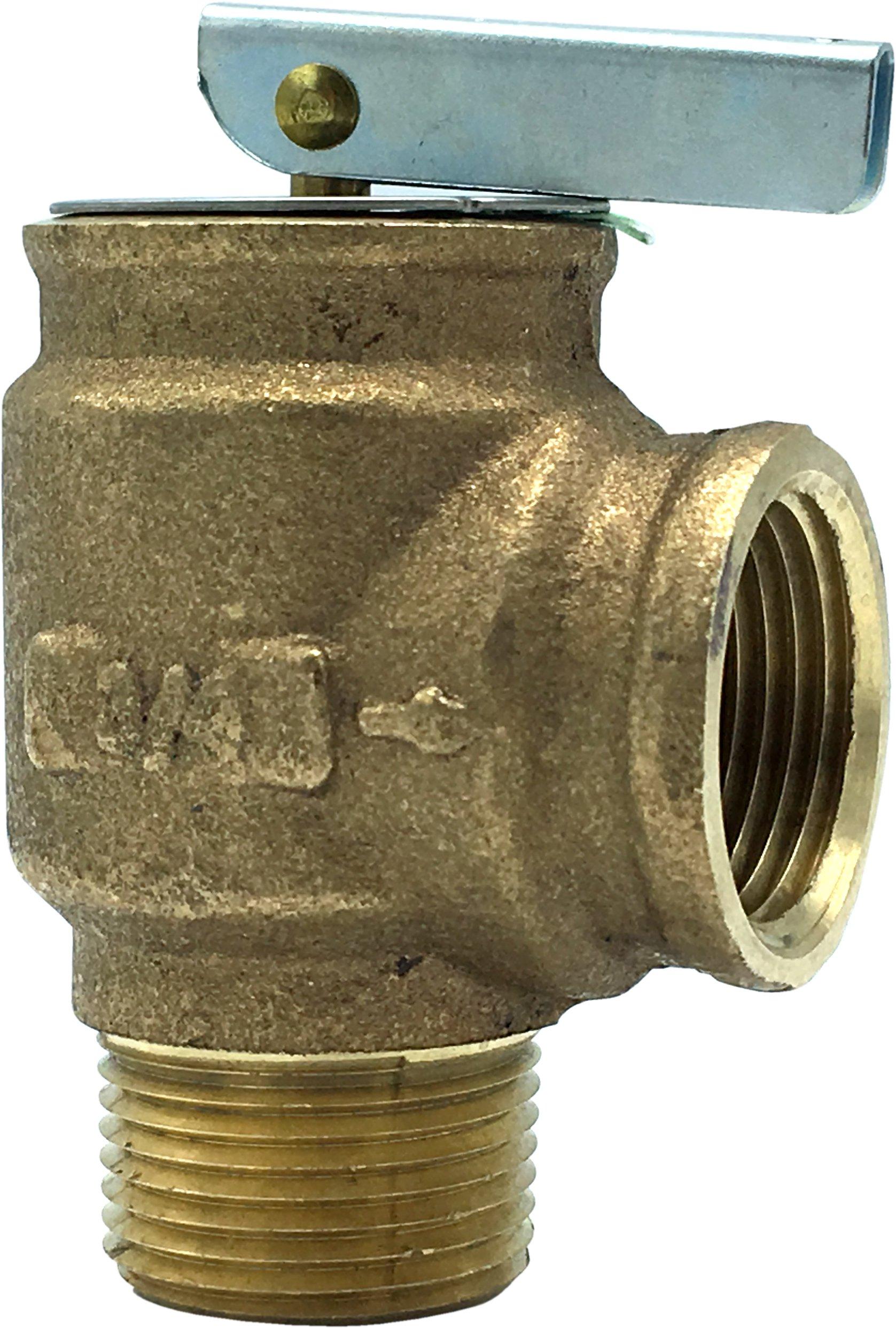 "Walrich 1725006 3/4"" X 3/4"" Mptxfpt 30Psi Boiler Relief Valve"
