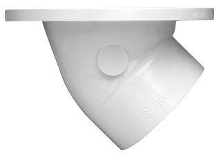 Oatey 43816 White Pvc Plastic 45D Toilet Level-Fit Closet Flange