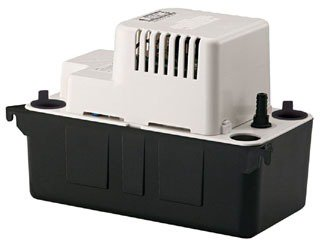 """Little Giant 554405 1-1/8"""" X 3/8"""" Barbed Outlet 1/50Hp 115V 65Gph Vertical Centrifugal Condensate Removal Pump"""