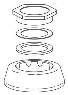 "Sloan  306146 1-1/2"" Chrome Flushometer Spud Coupling Assembly"