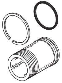 "Sloan  308803 3-1/16"" Chrome Adjustable Flushometer Tailpiece"