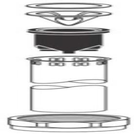 """Sloan Model 5323007 1-1/2"""" X 9"""" Chrome Flushometer Vacuum Breaker"""