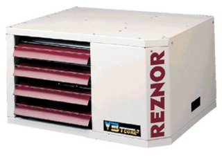 Reznor Model UDAP400 400000Btu/Hr 115Vac 11Amp 1086W White Glossy Power Vent Direct Spark Ignition Gas Fired Unit Heater