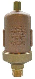 "Hoffman 401485 3/4"" Npt Straight Shank Cast Brass 150Psig Water Main Vent Valve"