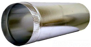 "Smoke Pipe  1-04026BL 4"" X 24"" 26 Gauge Sheet Metal Buttonlock Duct Pipe"