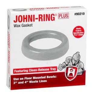 """Hercules Johni-Rings 90210 3"""" Or 4"""" Standard Waste Drain Line Wax Gasket"""