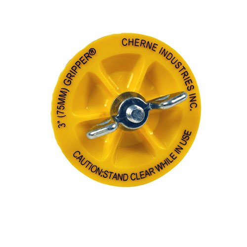"""Cherne End-Of-Pipe 270237 3"""" Glass Reinforced Abs Plastic Mechanical End Gripper Pipe Plug"""