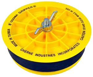 "Cherne End-Of-Pipe 270245 4"" Glass Reinforced Abs Plastic Mechanical End Gripper Pipe Plug"