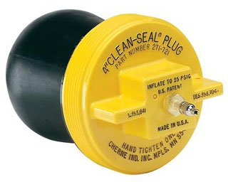 """Cherne Clean-Seal 271721 4"""" Natural Rubber Pneumatic Inflated/Deflated Sealing Plug"""