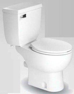 "Saniflo Saniplus 87 16-3/4"" 1.28Gpf White Vitreous China Elongated Toilet Bowl"