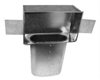 "Southwark  110_10x6x6 10"" X 6"" X 6"" Sheet Metal Long Throat Oval Duct Stack Head"