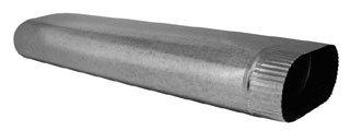 "Southwark  100_6IN 6"" X 100"" 30 Gauge Sheet Metal Oval Duct Pipe"
