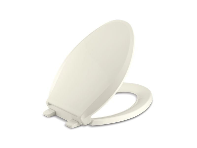 Kohler K-4636-96 Cachet Quiet-Close with Grip-Tight Elongated Toilet Seat in Biscuit