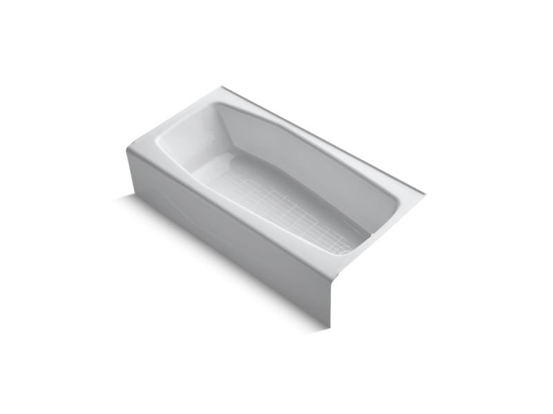 "Kohler K-716-0 Villager 60"" x 30"" Alcove Bath with Integral Apron and Right-Hand Drain in White"