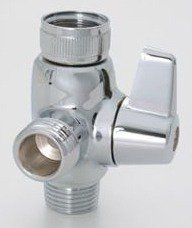 Jaclo 2004-SN 2 Way Same Time Lever Diverter, Satin Nickel