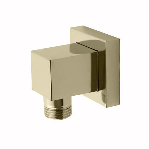 "Jaclo Cubix 8701-SN 2-1/4"" X 2"" Satin Nickel Brass Hand Shower Water Supply Elbow"