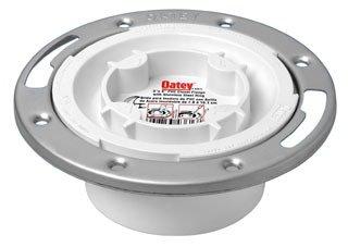 "Oatey Easy 43613 3"" Or 4"" White Pvc Plastic Tap Toilet Closet Flange"