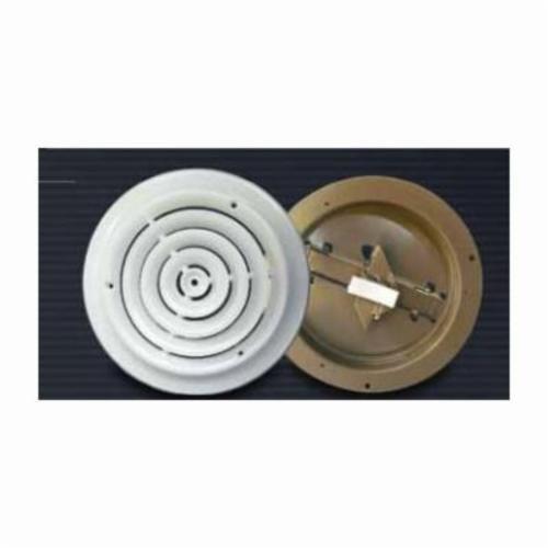 "MetalFab MFCD6RW 6"" White Ceiling Round Diffuser"