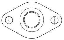 Grundfos 539605 Gf 1-1/2-Inch 40/43 Cast Iron Flange Set