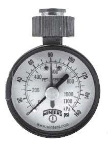 "Winter PETM213 3/4"" Female Swivel Hose 160Psi/Kpa 2.5"" Dial Differential Water Test Gauge"