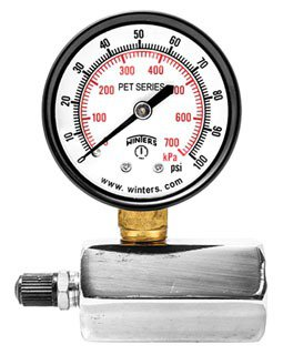 """Winter PETG204 3/4"""" Fpt 100Psi/Kpa 2"""" Dial Differential Gas Test Gauge"""