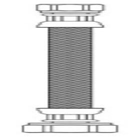 """Brasscraft Speedi B1-20A F 3/8"""" X 1/2"""" 20"""" Pvc/Brass Faucet Water Supply Connector"""