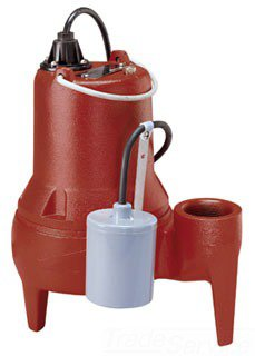 """Liberty LE41A 2"""" Fptxfpt 4/10Hp 115V 1725Rpm 125Gpm 21' Head Submersible Sewage Pump"""