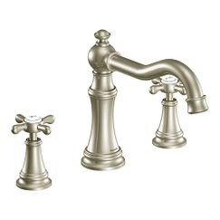 Moen TS22101 Weymouth Two Handle High Arc Roman Tub Faucet in Brushed Nickel