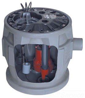 "Liberty Quicktree P382LE51A2 4"" X 2"" No Hub Power Rating 1/2Hp 115V 12Amp 41Gallon Polyethylene Simplex Sewage System W/Alarm"