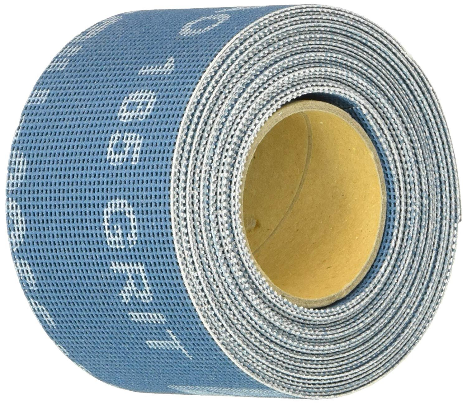 "Mill-Rose Clean-Fit 70152 2"" X 5Yard 165 Grit Aluminum Oxide Bright Blue Open Mesh Abrasive Roll"