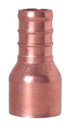 """Sioux Chief Powerpex 643X2IN 1/2"""" X 1/2"""" Ftgxpex Lead-Free Solid Copper 1-Piece Straight Adapter"""