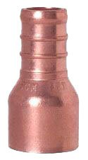 """Sioux Chief Powerpex 644X2IN 1/2"""" X 1/2"""" Cxpex Lead-Free Solid Copper 1-Piece Straight Adapter"""