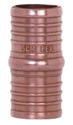 """Sioux Chief Powerpex 645X3 3/4"""" X 3/4"""" Pexxpex Barb Lead-Free Solid Copper Coupling"""