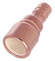 "Sioux Chief Metalhead 645XC4 1"" X 1"" Pexxcpvc Lead-Free Copper Straight Adapter"