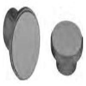 "Keeney 1030PC 1.02"" X 1-3/4"" Chrome Plastic Adjustable Shower Rod Flange"