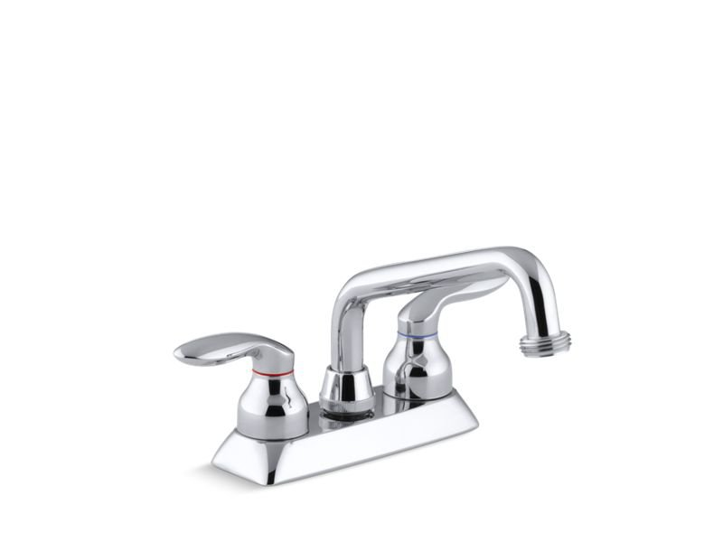 Kohler K-15271-4-CP Coralais Utility Sink Faucet with Threaded Spout And Lever Handles