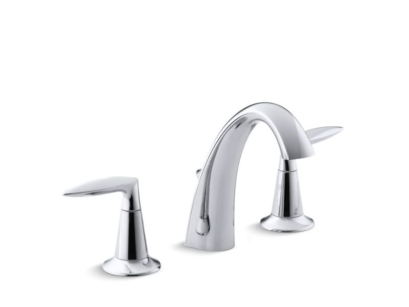 Kohler K-45102-4-CP Alteo Widespread Bathroom Sink Faucet with Lever Handles in Polished Chrome