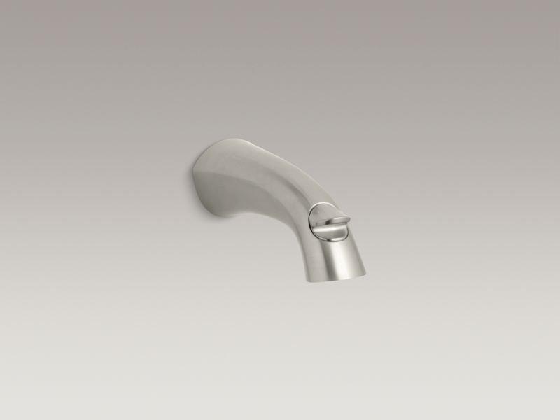 Kohler K-45131-BN Alteo Wall-Mount Diverter Bath Spout in Vibrant Brushed Nickel