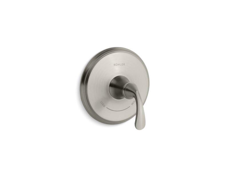 Kohler K-T10359-4-BN Forte Sculpted Valve Trim for Thermostatic Valve, Requires Valve in Vibrant Brushed Nickel