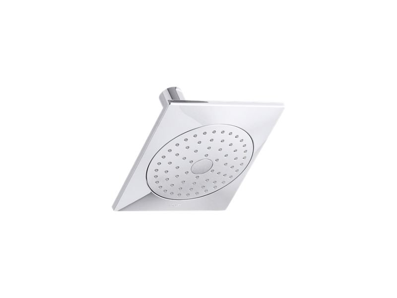 Kohler K-14786-CP Loure 2.5 GPM Single-Function Showerhead with Katalyst Air-Induction Technology in Polished Chrome