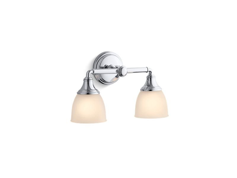 Kohler K-10571-CP Devonshire Double Wall Sconce in Polished Chrome