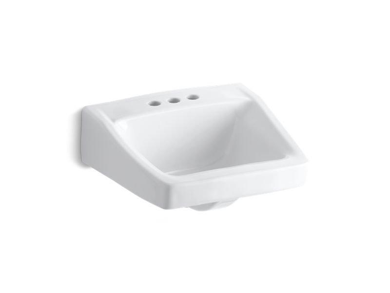Kohler K-1728-0 Chesapeake Wall-Mount/Concealed Arm Carrier Arm Bathroom Sink in White