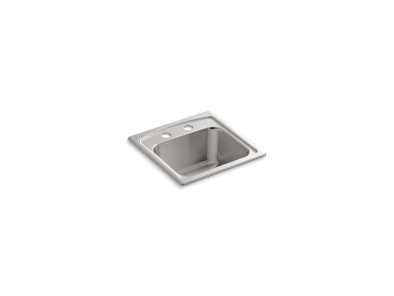Kohler K-3349-2-NA Toccata Top-Mount Bar Sink with 2 Faucet Holes